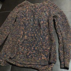 Multicolored cable knit sweater jumper rainbow